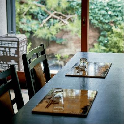 精進料理テーブル